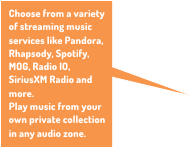 Control different music services